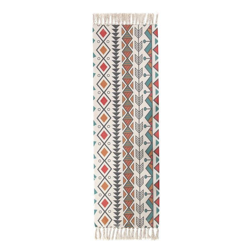 Ethnic Carpet Area Rug For Bedroom Floor Long Strip Geometric Carpets - home and decor-oosmdeals