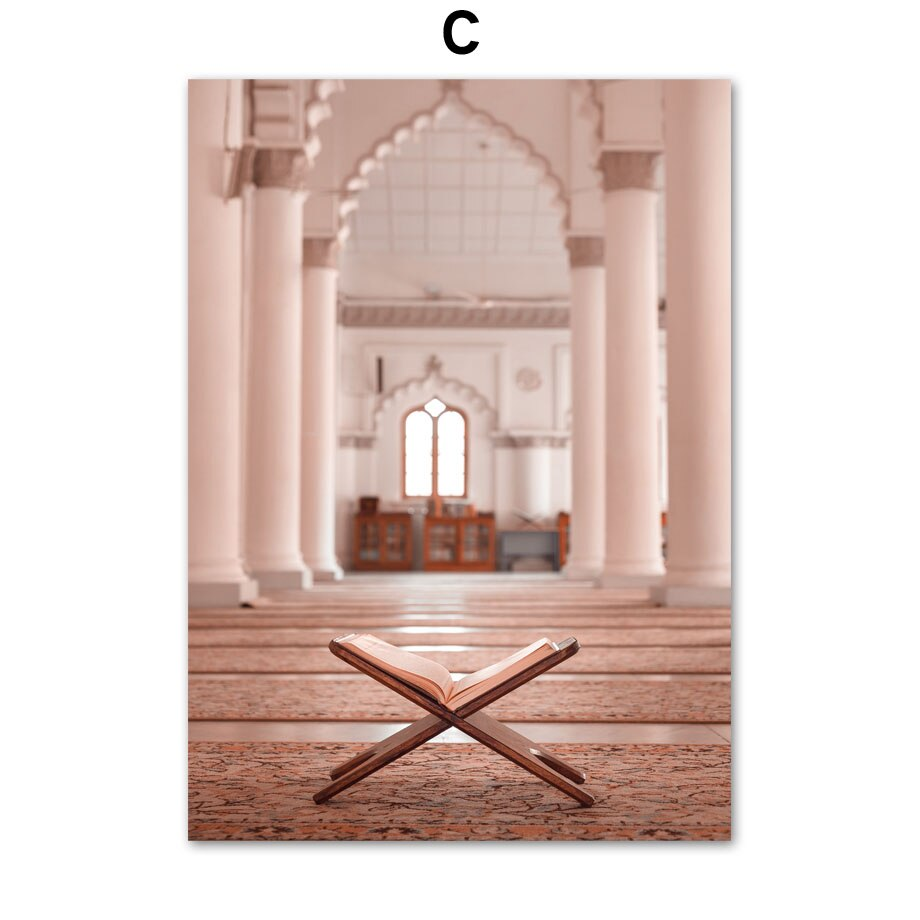 Wall Art Canvas Painting Sheikh Zayed Grand Mosque East Gate Nordic Posters And Prints Decoration Wall Pictures For Living Room-oosmdeals
