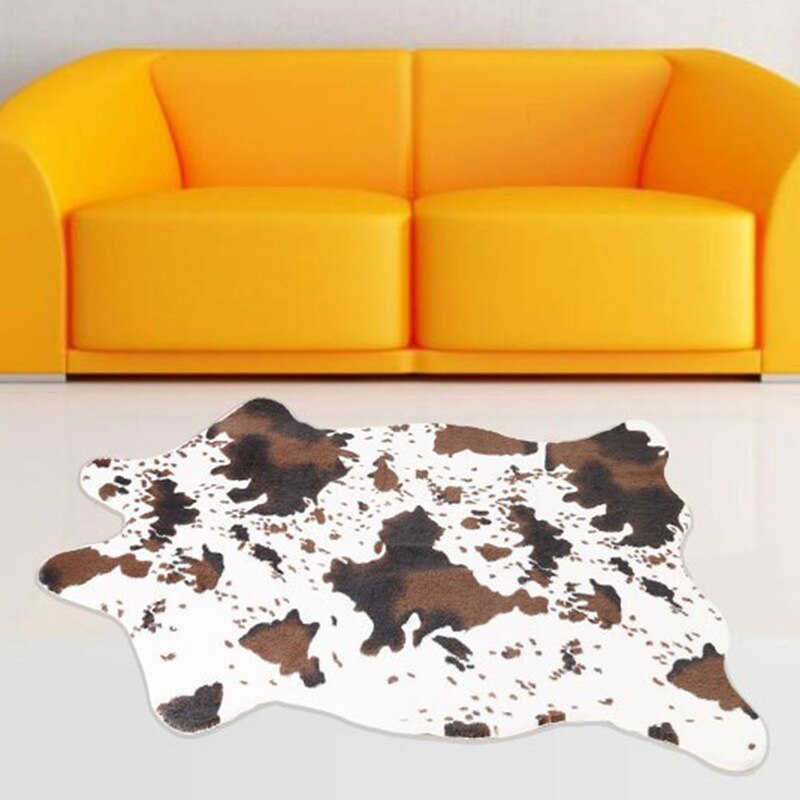 Imitation Animal Skins Rugs and Carpets Cow Carpet Carpets for Living Room Bedroom 110x75cm