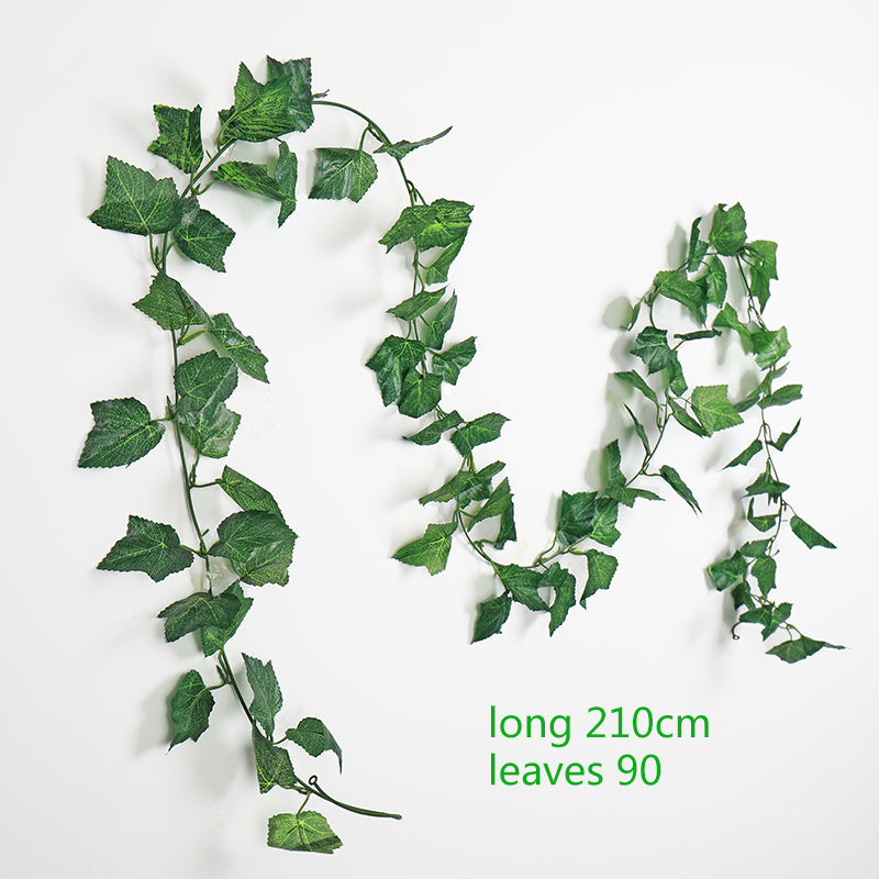 Green silk artificial Hanging ivy leaf garland plants vine leaves 1Pcs diy - home and decor-oosmdeals