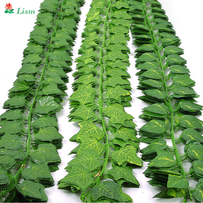 Green silk artificial Hanging ivy leaf garland plants vine leaves 1Pcs diy - home and decor