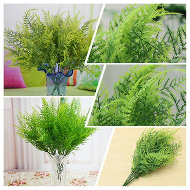 Creative Plastic Green Plants 7 Stems Artificial Fern Asparagus Grass Flower Bushes Home Office Deor Plant Decorative Fake Tree - home and decor