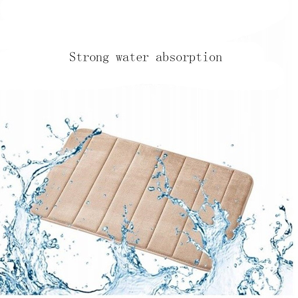 40x60cm Water Absorbent Soft Memory Foam Mat Carpet Bathroom Bedroom Floor Rug Non Skid New Shower Room Mat Accessories For Home