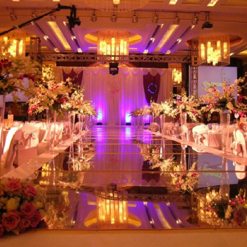5 New 100cm*10M Wedding Mirror Carpet T Stage Carpet Runner For Wedding party Backdrop Decorations  0.12mm Thickness PET