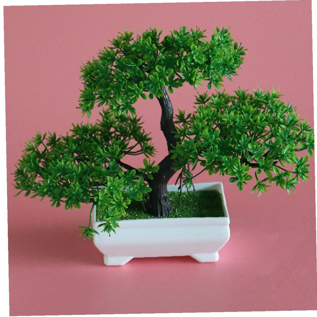 Artificial Bonsai Tree Fake Plant Decoration Potted Green House Plants for Home Garden Decor Desktop Display