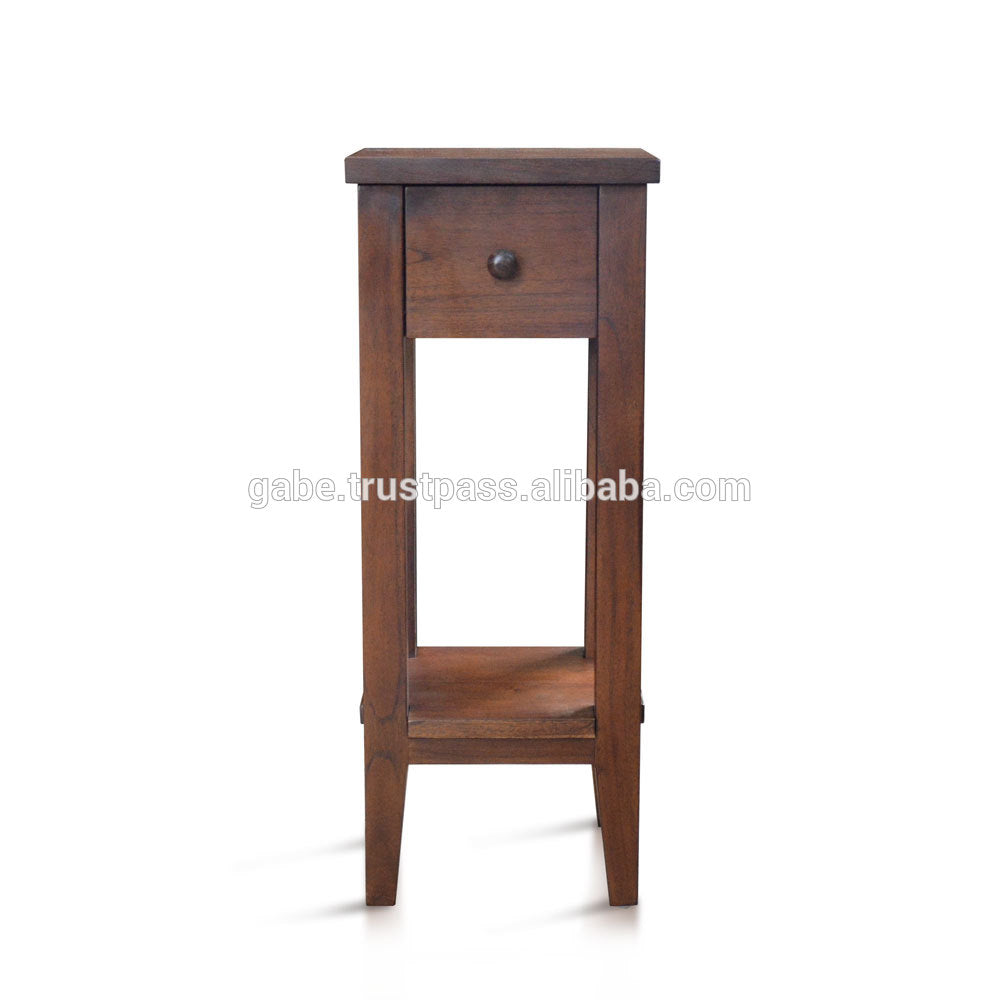 Accent table 1 drawer Solid teak Wood , Hand made