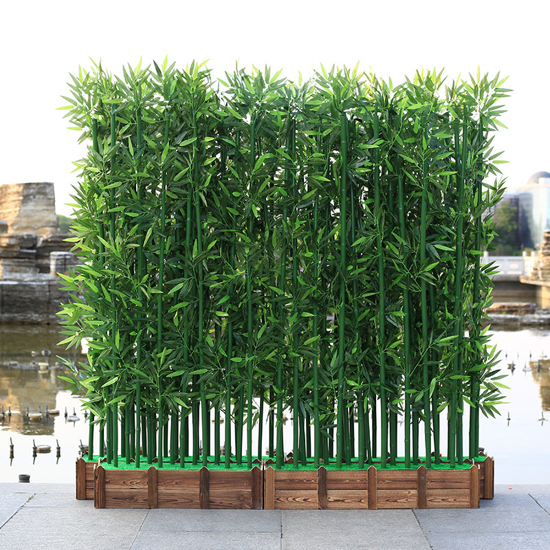 artificial bamboo plastic tree plants leaves outdoor factory - home and decor-oosmdeals