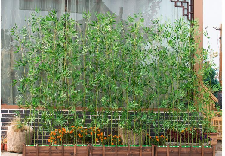 artificial bamboo plastic tree plants leaves outdoor factory