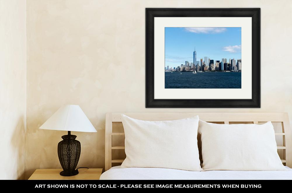 Framed, New York Manhattan Skyline - wall art-oosmdeals