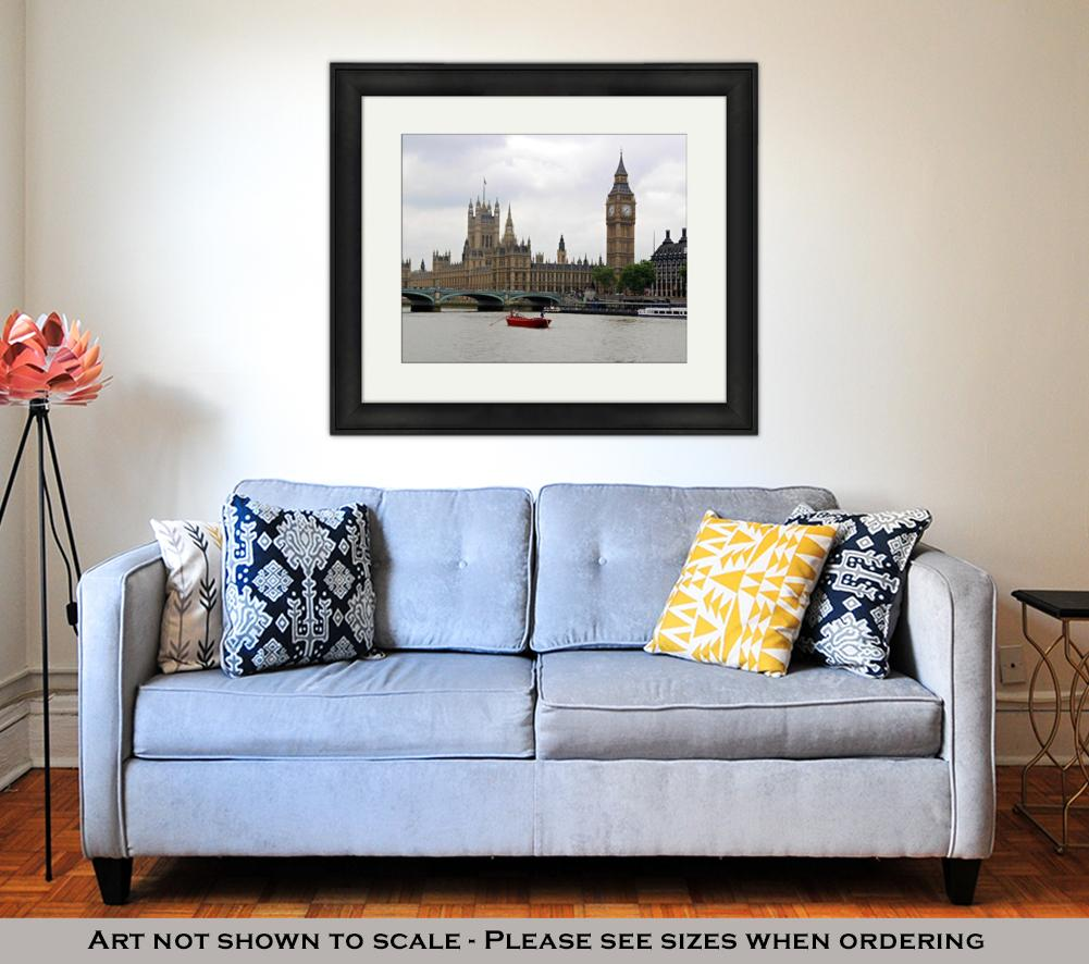 Framed Print, London Landmarks - wall art-oosmdeals