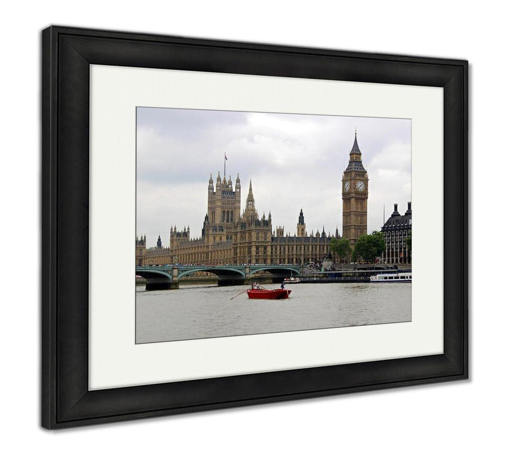 Framed Print, London Landmarks - wall art