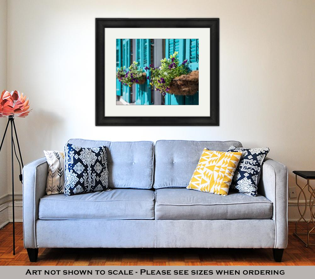 Framed Print, New Orleans Flowers - wall art