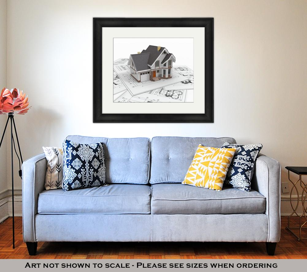 Framed, Residential House Architect - wall art-oosmdeals