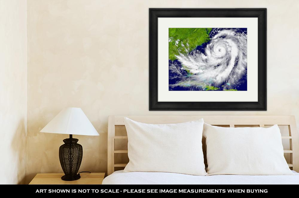 Framed Print, Hurricane Over - wall art-oosmdeals
