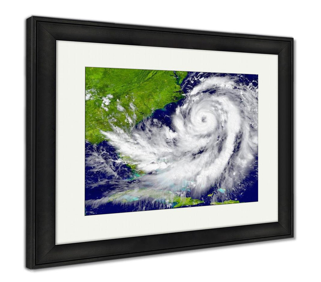 Framed Print, Hurricane Over - wall art