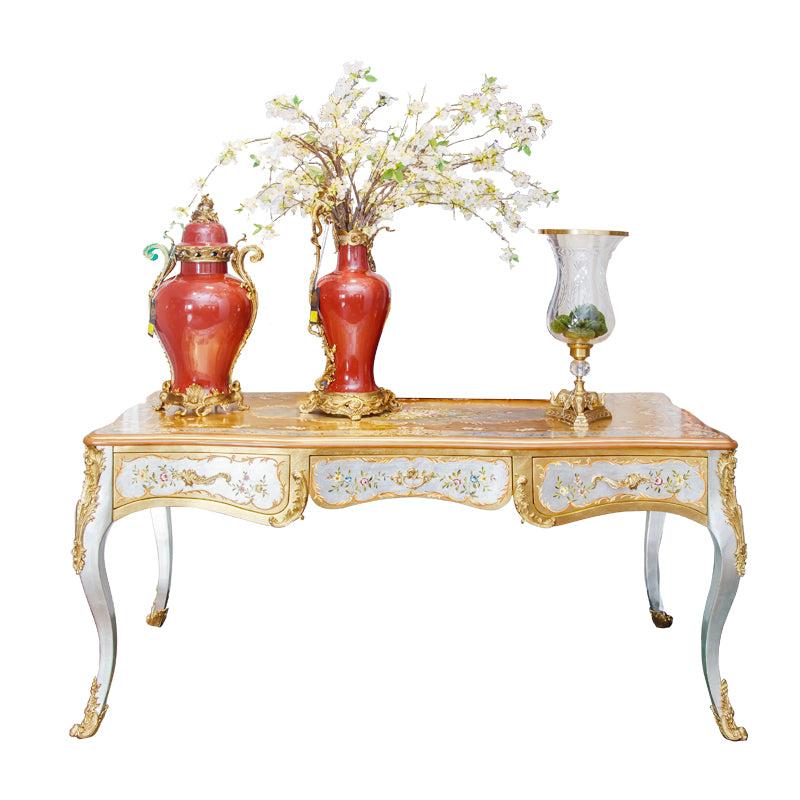 long retangular Vintage accent table and desk  with Painted Dairy Table for hotel castle palace