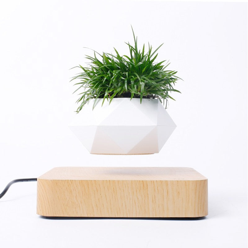 Levitating Air Bonsai Pot Rotation Flower Pot Planters Magnetic