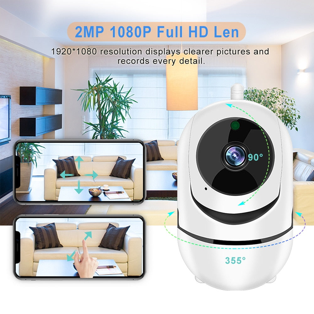 Wifi IP Camera 1080P FHD PTZ Auto Tracking Home Security Camera Night Vision Two Way Audio Wireless CCTV Surveillance Cameras