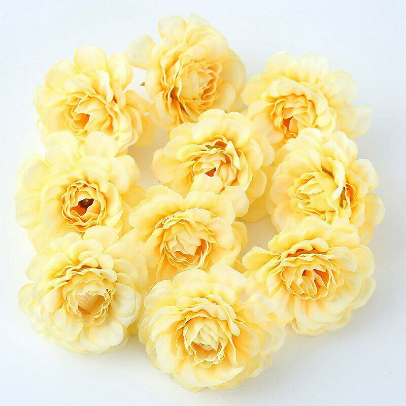 Artificial Silk Fake Peony Flowers Floral Head Wedding Bouquet | Home and Decor-oosmdeals