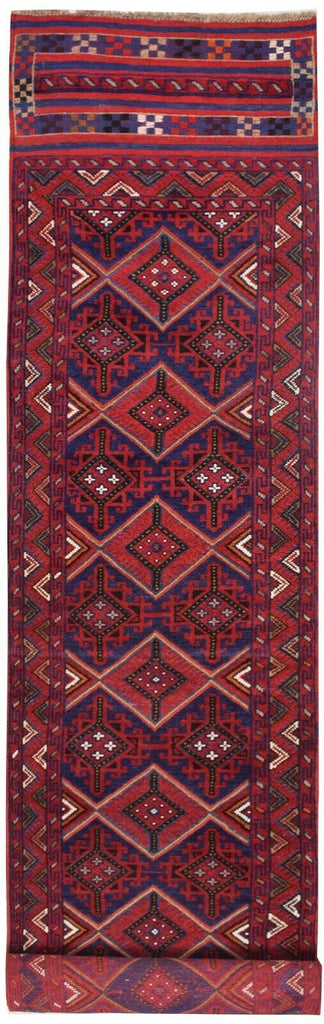 2'1 x 12'8 Oriental Hand-woven Mashwani Lagzi Runner Rug (393 x 65 cm) No 2912 - home and decor