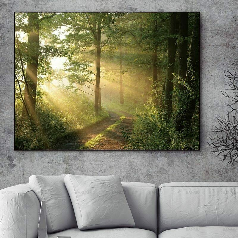 Wall Art picture Abstract Canvas painting forest Picture art wall Oil Painting - wall art