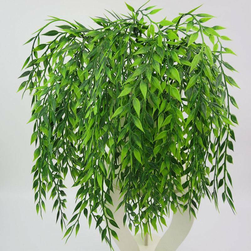 Artificial Fake Leaves Plastic Plant Flower Wall Hanging Home - home and decor
