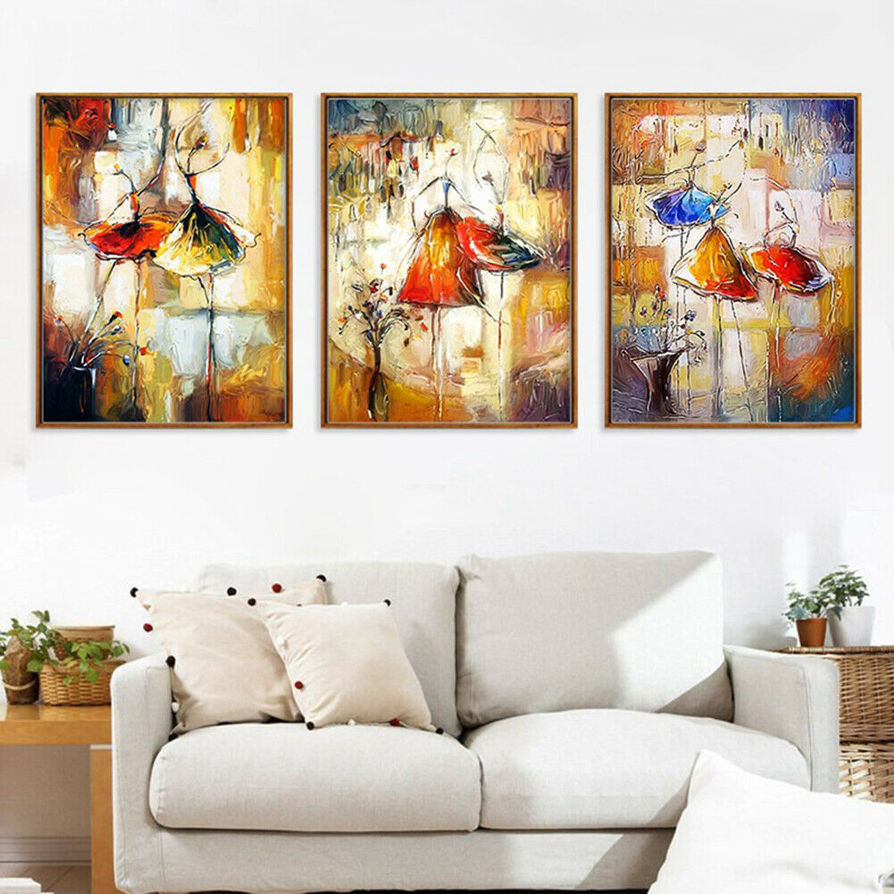 Abstract Watercolor Dancing Girl Canvas Painting Wall Art Living Room Decor Cool