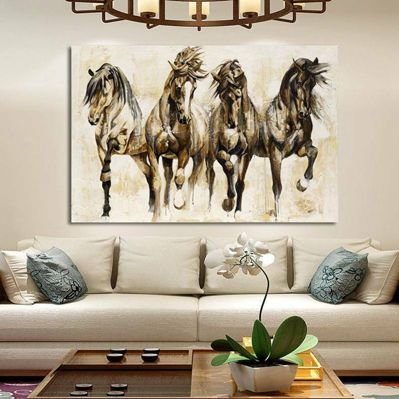 Art Running Horse Canvas Painting Picture Print Home Wall Decor Unframed New Cxz - wall art