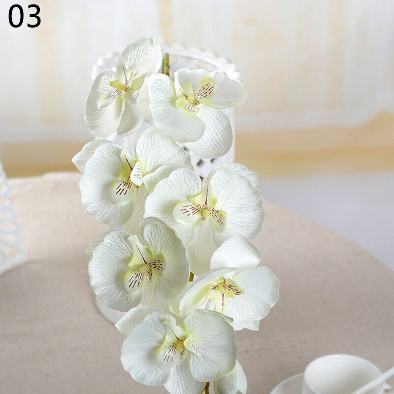 Artificial Butterfly Orchid Bouquet Silk Flowers-oosmdeals