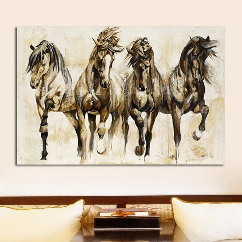 Art Running Horse Canvas Painting Picture Print Home Wall Decor Unframed New Cxz
