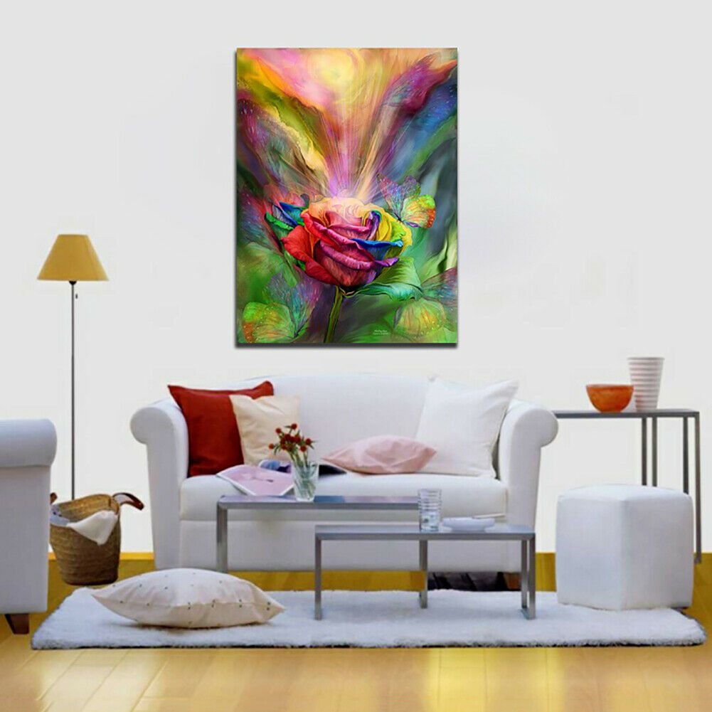 ITS- Unframed Canvas Painting Wall Art Beauty Rose Home Poster Modern Picture Ne
