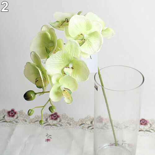 Artificial Butterfly Orchid Silk Flower Bouquet Phalaenopsis Home Decor Call