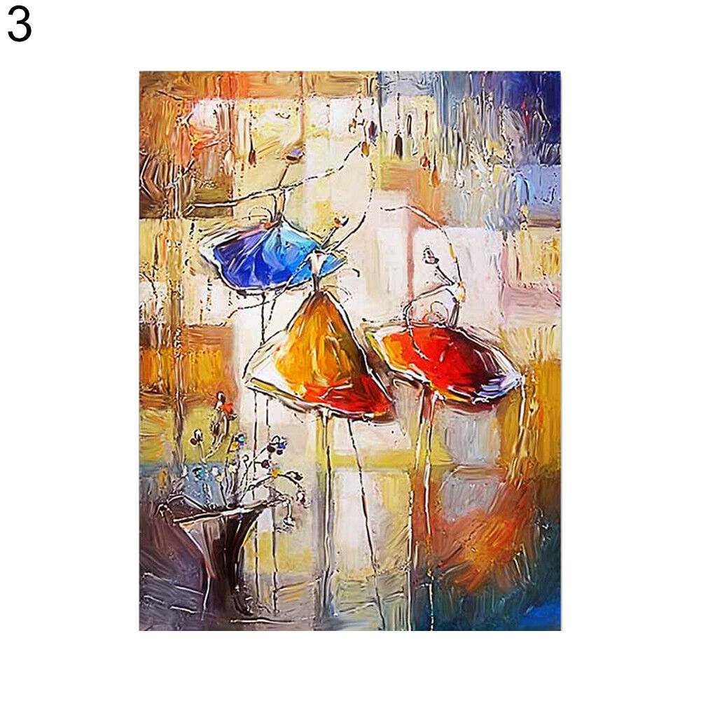 Abstract Watercolor Dancing Girl Canvas Painting - wall art