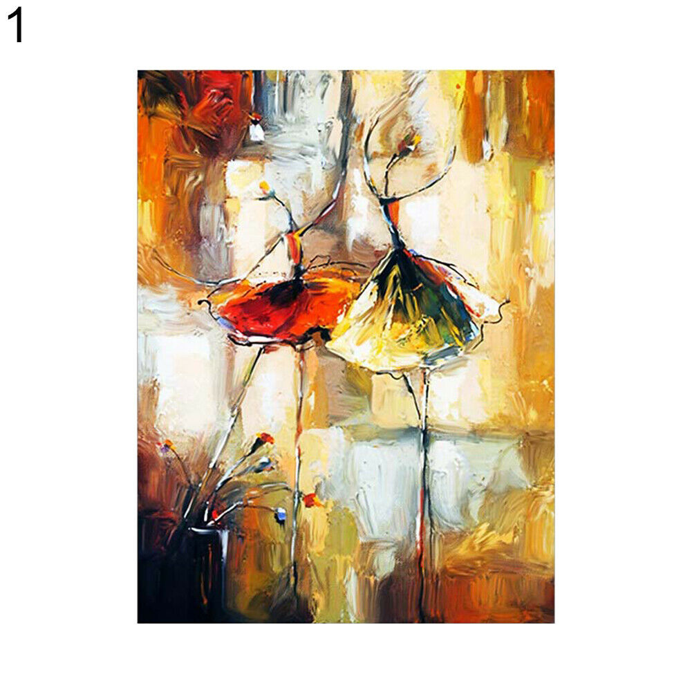 Abstract Watercolor Dancing Girl Canvas Painting - wall art-oosmdeals