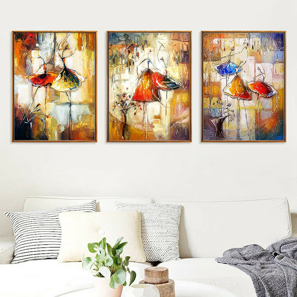 Abstract Watercolor Dancing Girl Canvas Painting Wall Art Living Room Decor Cool - wall art
