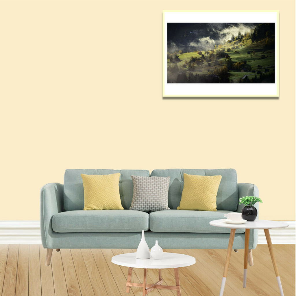 Autumn Village Canvas Art Painting Poster Living Room Picture Wall Decor Gift