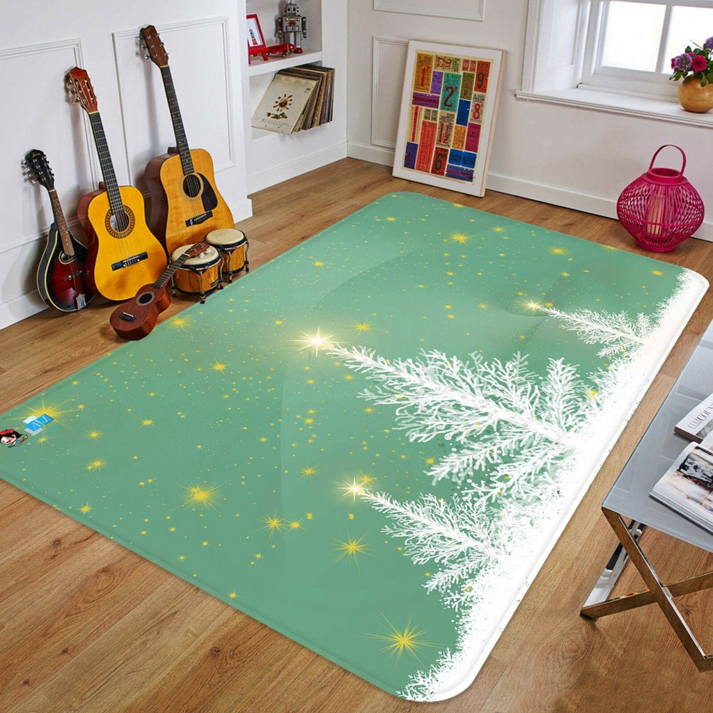3D Christmas Xmas Tree Star 333 Non Slip Rug Mat Room Mat Quality Elegant Carpet