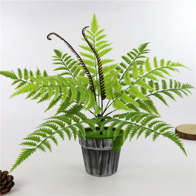 9 Heads Bouquet Artificial Fern Palm-oosmdeals
