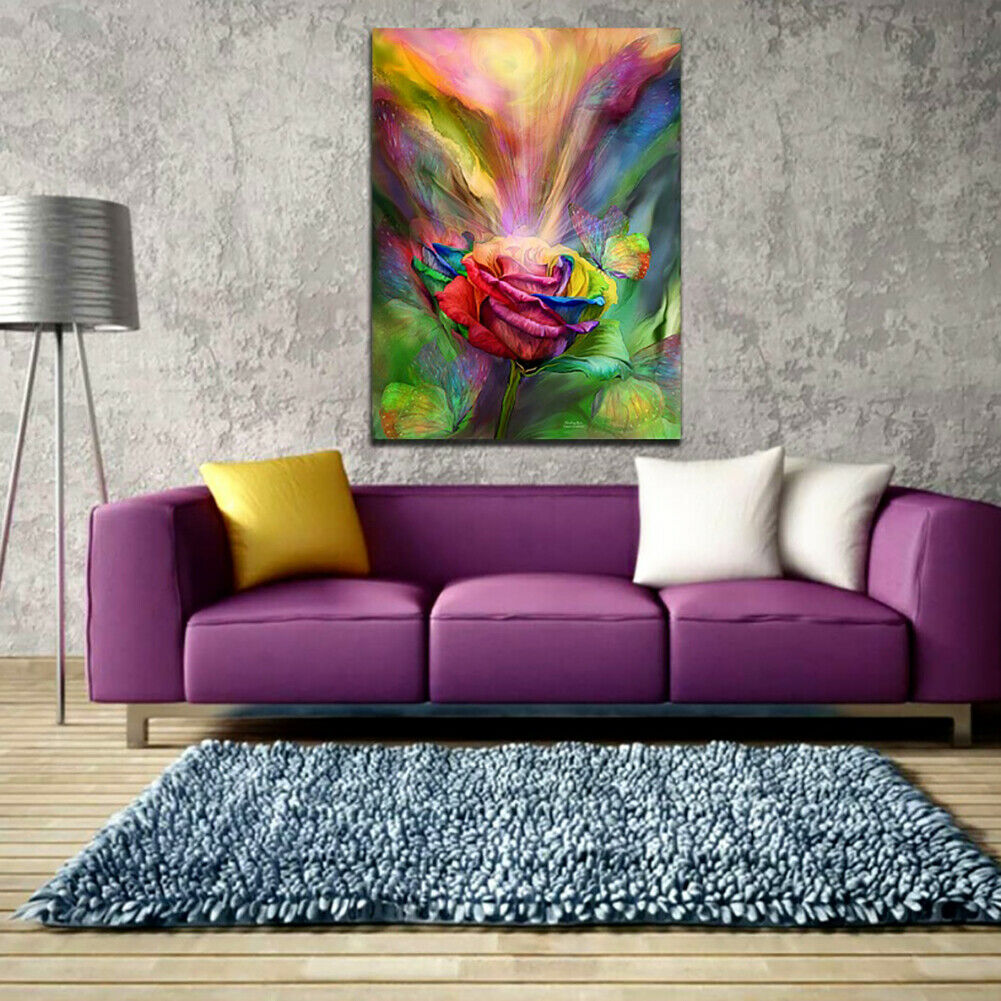 ITS- Unframed Canvas Painting Wall Art Beauty Rose Home Poster Modern Picture - wall art