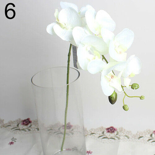 Artificial Butterfly Orchid Silk Flower Bouquet Phalaenopsis Call - home and decor