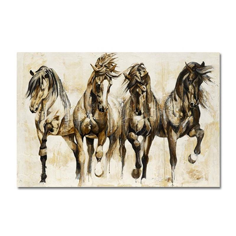 Art Running Horse Canvas Painting Picture - wall art-oosmdeals