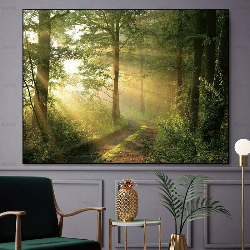 Wall Art picture Abstract Canvas painting forest Picture art wall Oil Painting