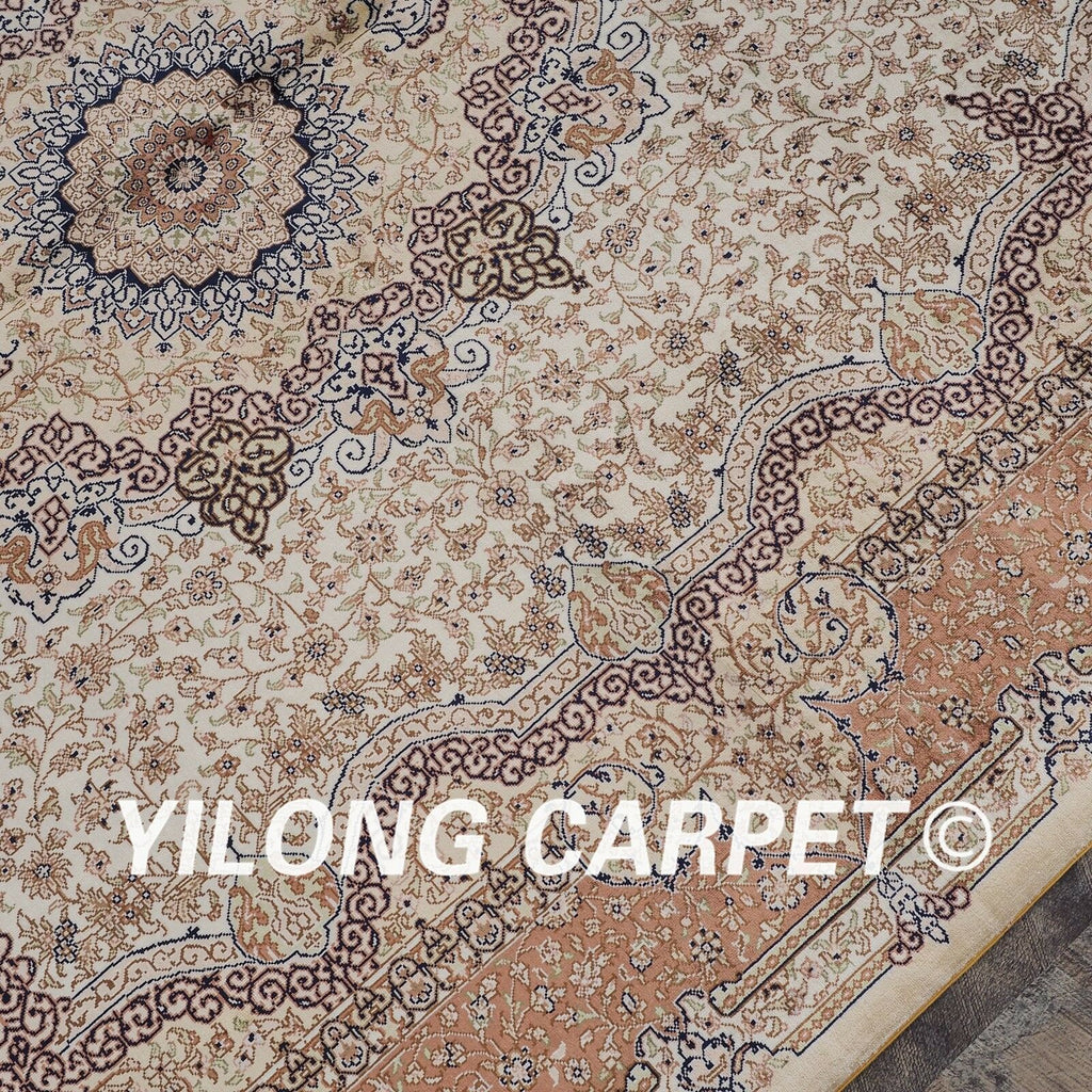 Yilong 5'x7' Floral hand knotted Classic Rug Bedroom Handmade Silk Carpet L25A