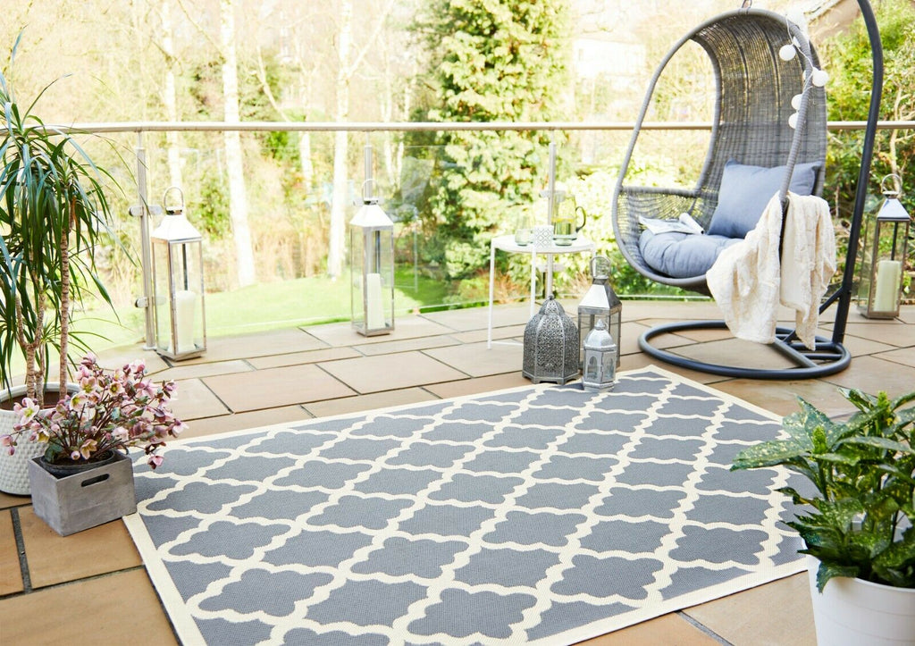 Traditional Pattern Flatweave Outdoor and Indoor Rug-oosmdeals