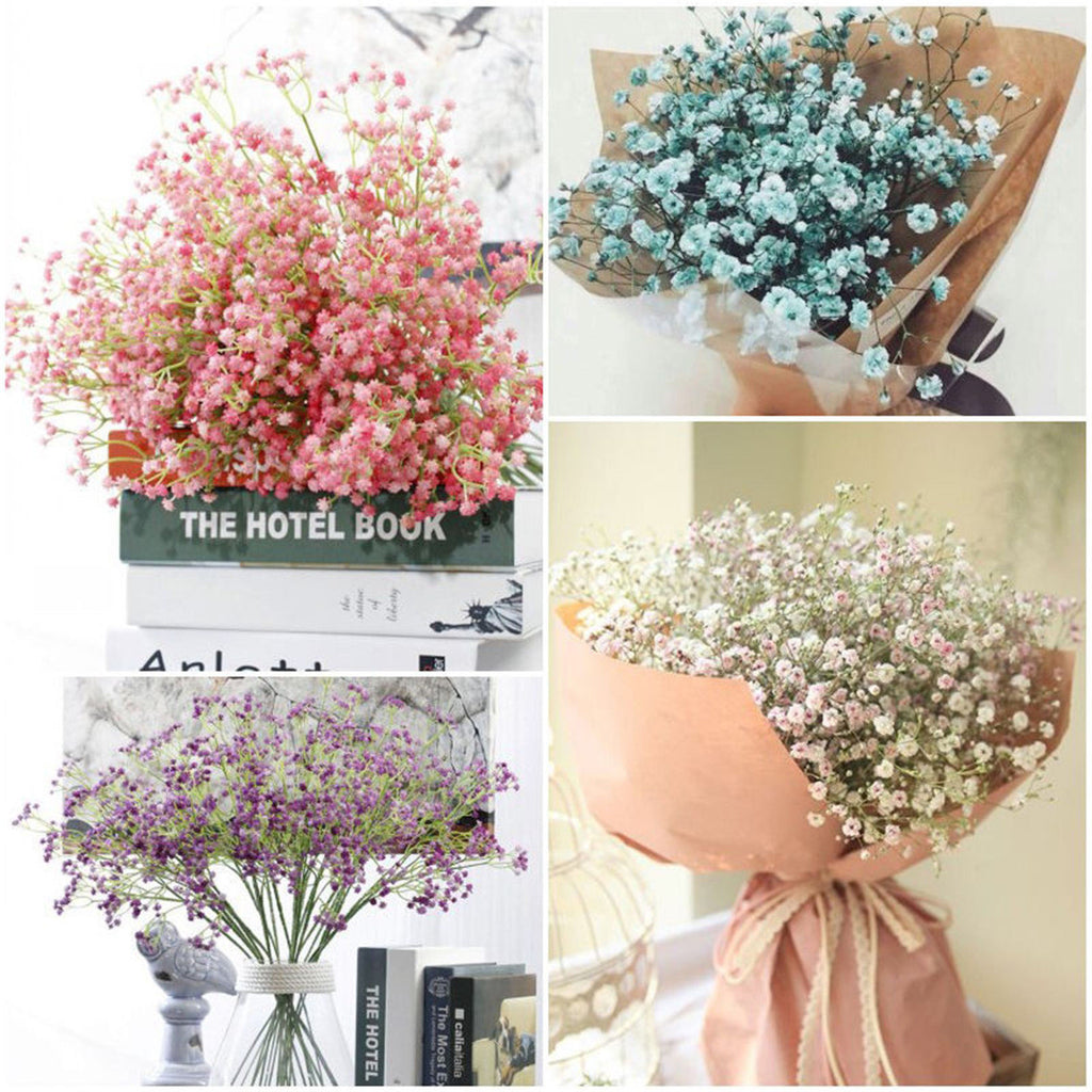 Artificial Fake Flower Babys Breath Gypsophila Silk Flowers Bouquet Home Decor - home and decor