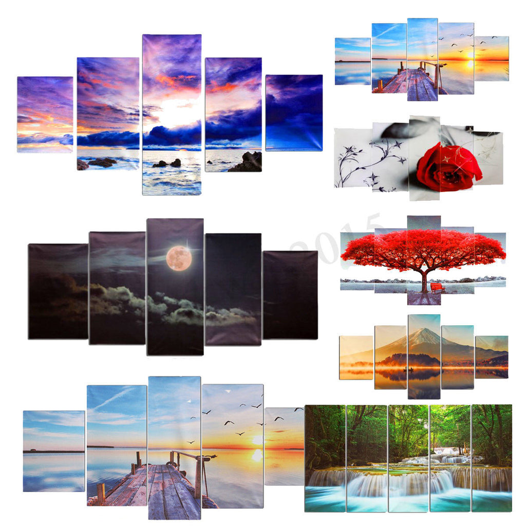 Large Canvas Huge Modern Wall Art Oil Painting Picture Print Unframed - wall art