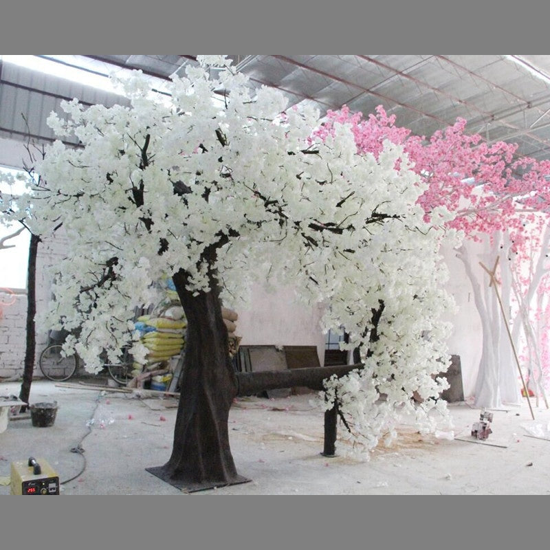 wholesale New design Wedding Decoration artificial plant White pink wishing Cherry Blossom flowers Tree large sakura tree