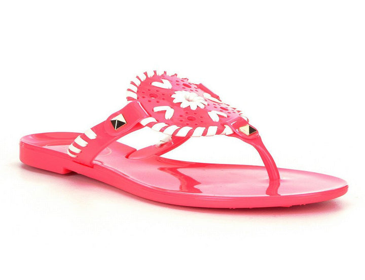 Jack Rogers Georgica Jelly Pink/White by Jack Rogers from THE LUCKY KNOT - 1
