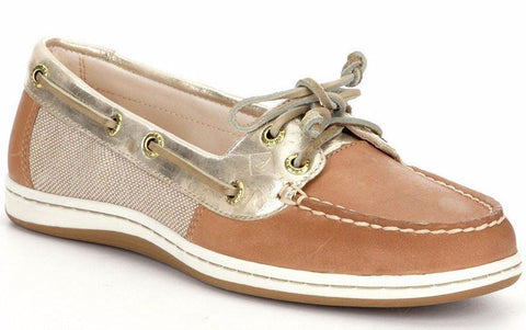 Sperry Women's Firefish Metallic Linen Gold Boat Shoes by Sperry Top-Sider from THE LUCKY KNOT - 1