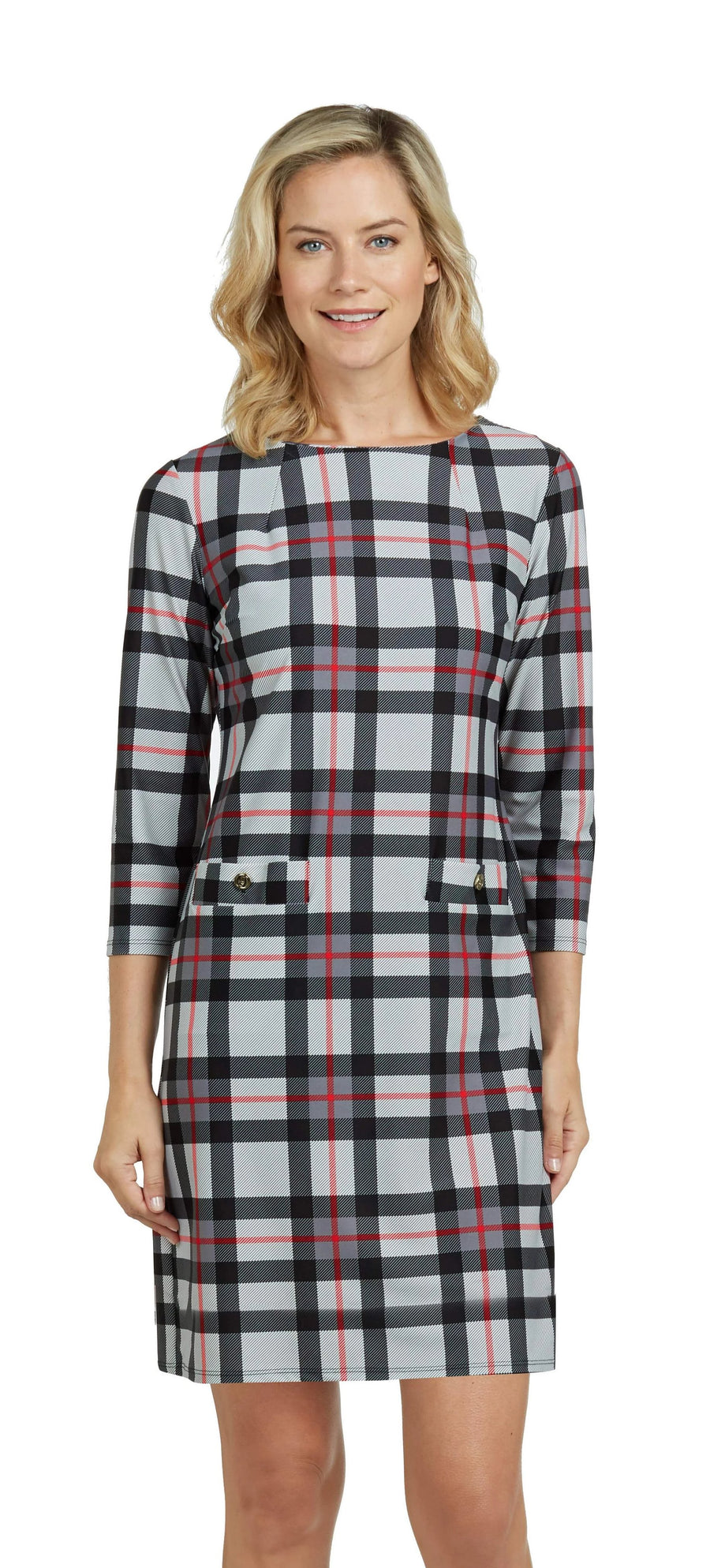 Jude Connally Sabine Dress - Tartan Grey